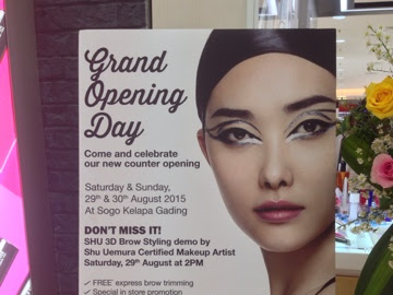 [Event Report] Re-Opening Shu Uemura Counter on MKG