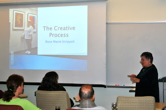 "Photo: Rose Marie Strippoli discusses ""The Creative Process"""