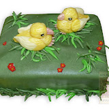 42. kép: Ünnepi torták - Csibés torta