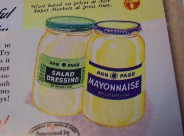 Un mold onto salad greens. Serve with (Ann Page) salad dressing or mayonnaise. Radishes on the...