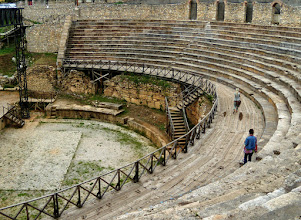 Photo: Ohrid, Hellenistic theater 200 BC, the only existing one in FYROM