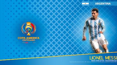 Wallpaper Copa América 2016 – Argentina (Lionel Messi) - 1920x1080