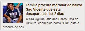 Família procura morador do bairro São Vicente que está desaparecido há 2 dias