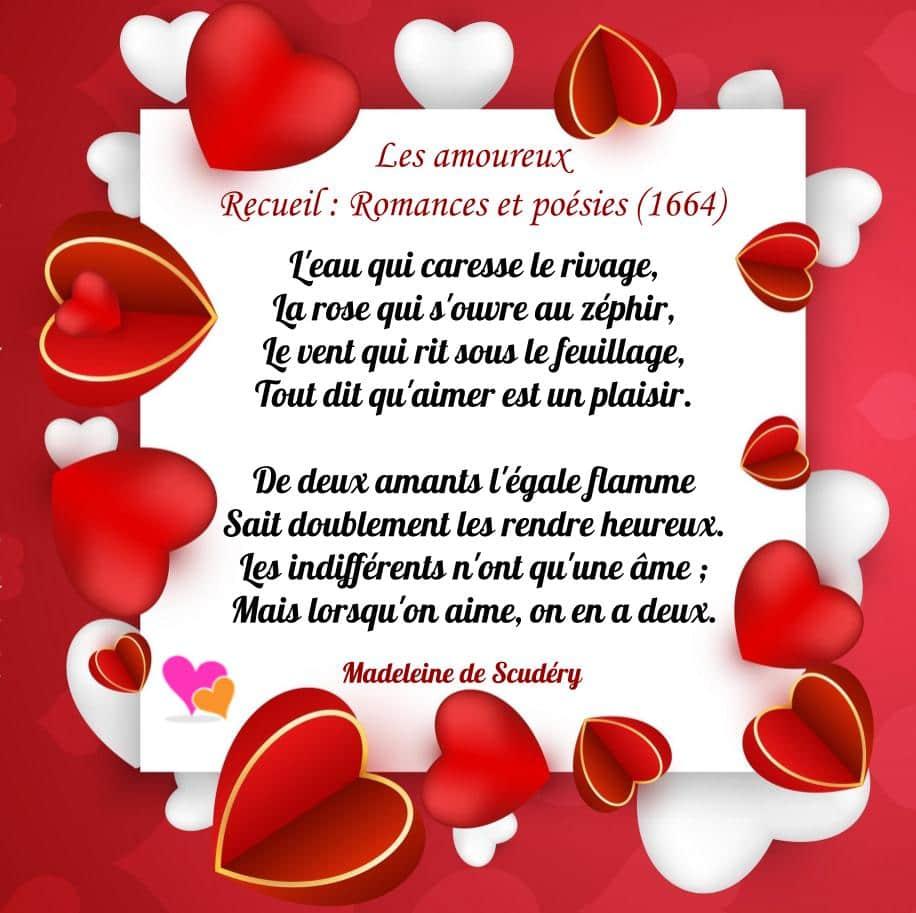 Poème court - Les amoureux de Madeleine de Scudéry