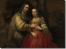Rembrandt, Portrait of a Couple as Isaac and Rebecca, known as The Jewish Bride, c. 1665 © Rijks