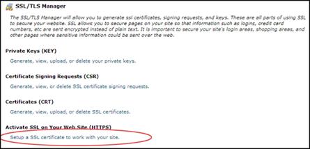 Klik menu ini untuk mengaktifkan ssl