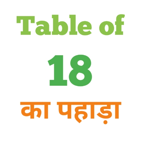 18 Ka Pahada ( 18 का पहाड़ा ) 18 ka pahada in hindi - Group Exam