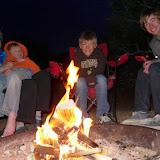 Shelli and her boys, getting ready to enjoy their favorite dessert, ever – s'mores.