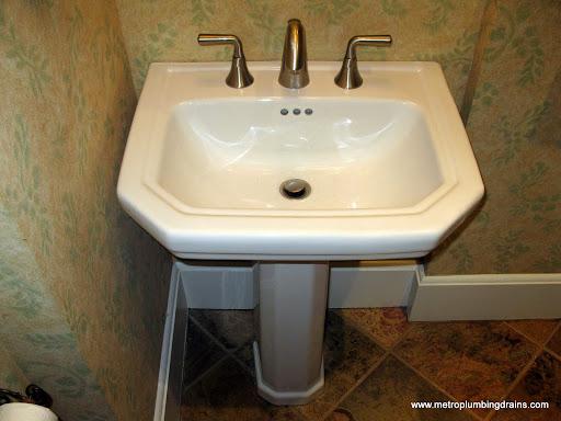 Install Pedestal Sink