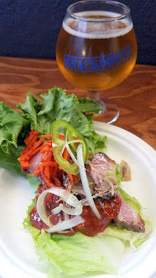 Snackdown 2016 Kim Jong Grillin brought the spice with pork ssam/ Breakside Brewery cooled it down with Rainbows & Unicorns, their session IPA