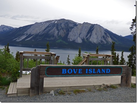 Bove Island, Windy Arm of Tagish Lake, Klondike Highway, Yukon