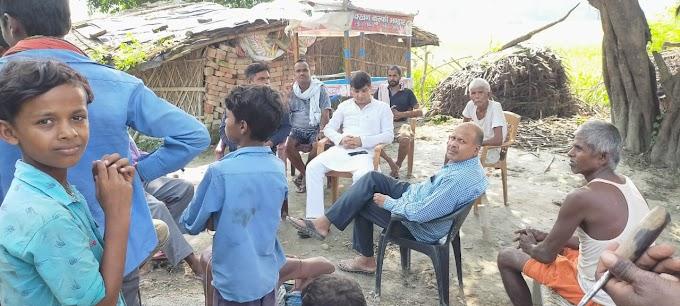 शोकाकुल परिवार से मिले अभय कुमार सिंह