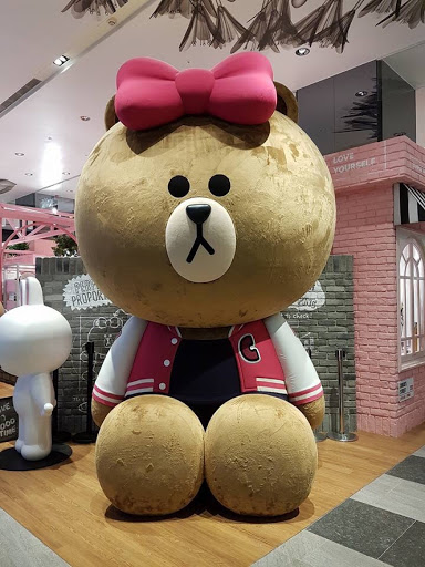 Huge Coco plush at Taipei Line Friends Store