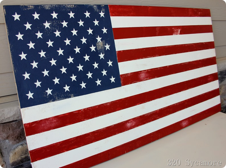 pottery barn american flag diy