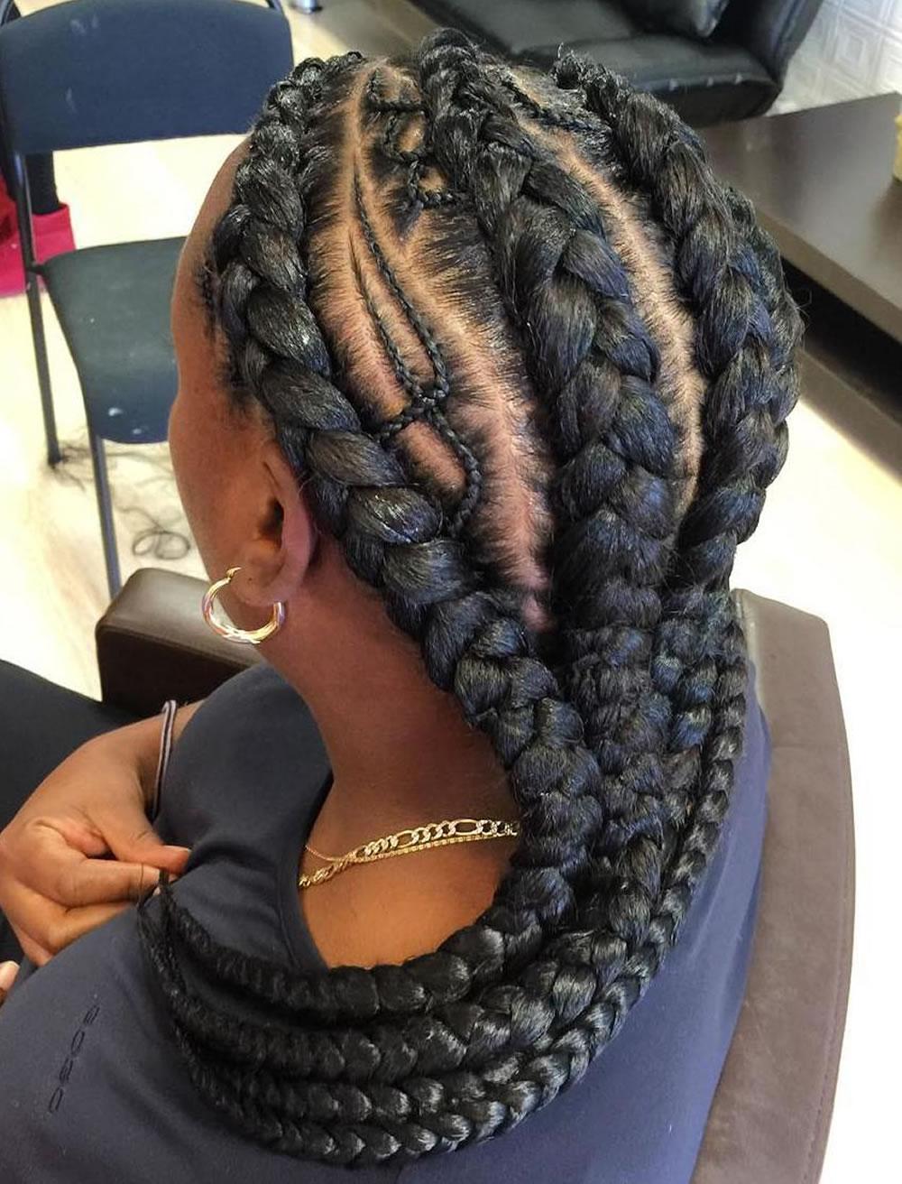 Latest 2019 Ghana braids hairstyles for black women 8