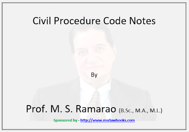 Civil Procedure Code Notes | Sponsored by MSR Law Books