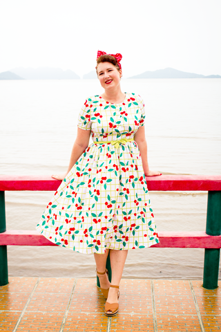 Sisjuly Cherry Dress ~ 50s inpired style   Lavender & Twill