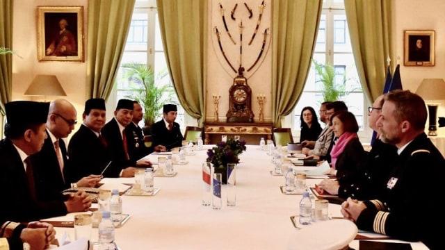 Prabowo Temui Menhan Prancis, Bahas Kerja Sama Penguatan Pertahanan