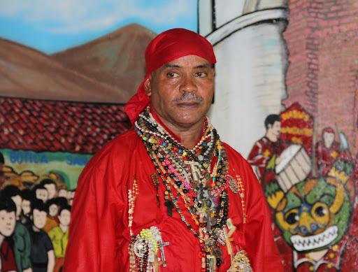 Diablo de Yare condecorado en el día de Corpus Christi en San Francisco de Yare, Municipio Bolivar, Miranda Venezuela