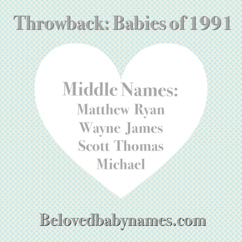 beloved baby names throwback babies of 1991