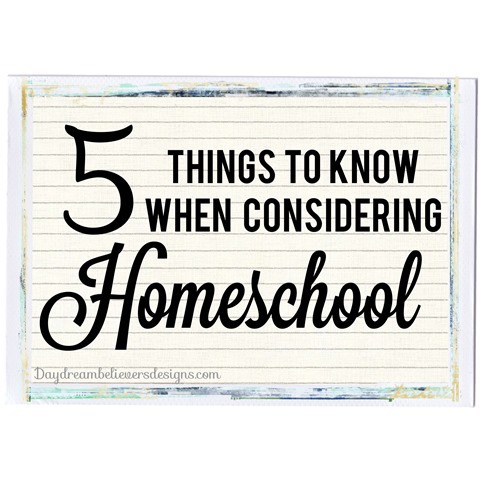 5 things to know when considering homeschool