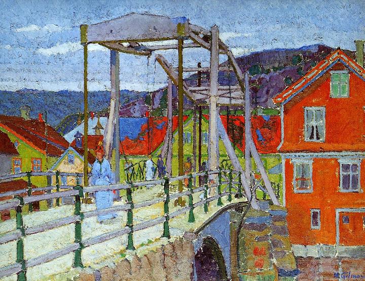 Harold Gilman - Canal bridge Flekkefjord