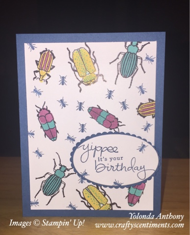 Stamping With Crafty Scentiments Beetles And Bugs Birthday Card