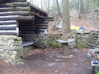 One of the Appalachian trail shelters (we didn't use it)