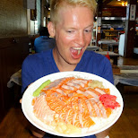 best salmon sashimi in the world fresh flown in from Norway in Seoul, Seoul Special City, South Korea