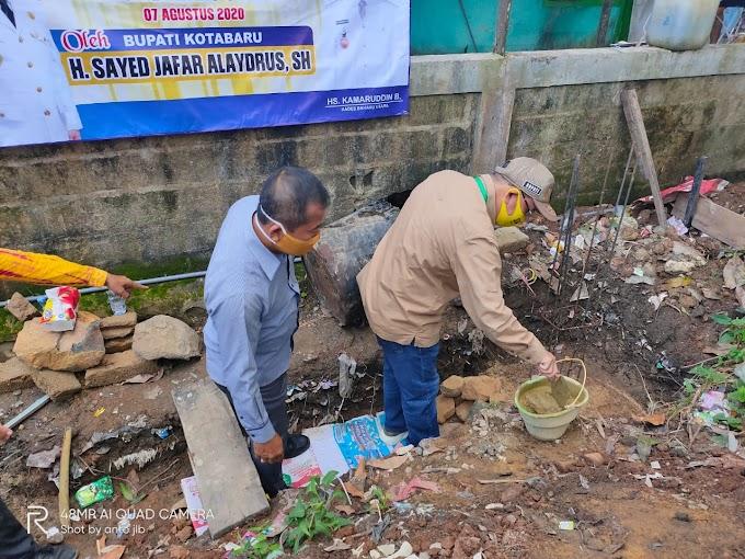 Bupati Kotabaru Letakkan Batu Pertama Bangun Gedung Serbaguna Olahraga
