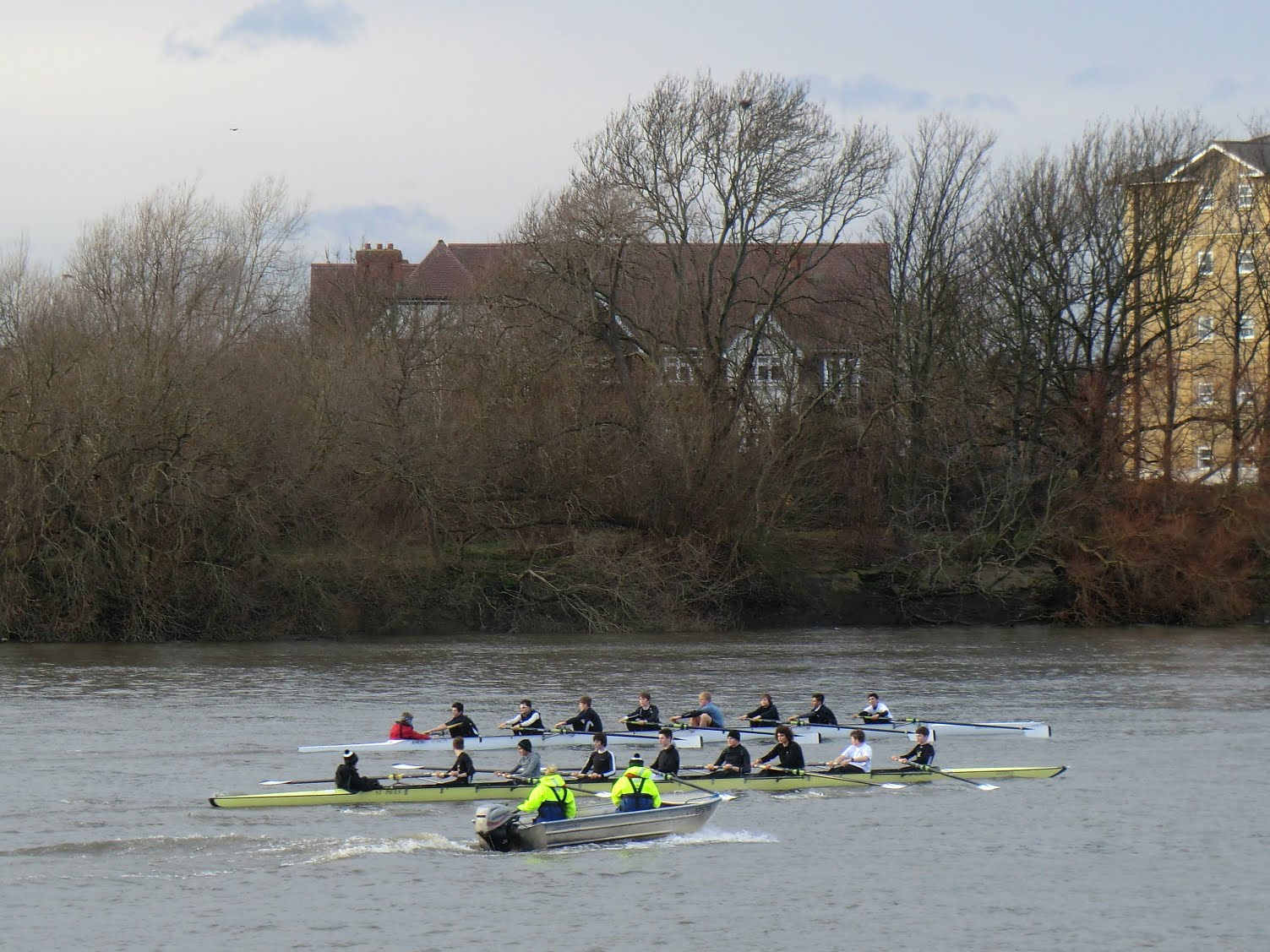 CIMG2591 Rowing eights on the Thames