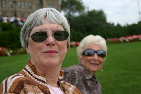 Mom and Auntie Joe at the Changing of the Guard
