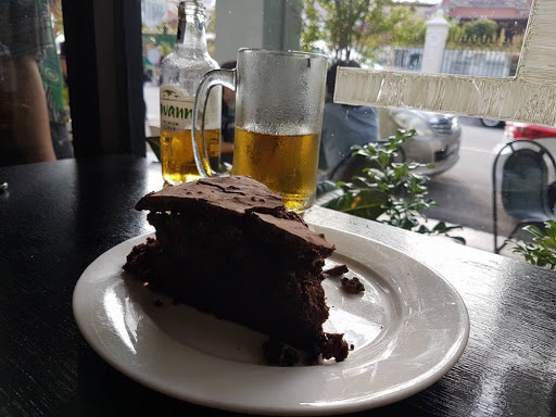 A slice of chocolate cake from China House in Penang