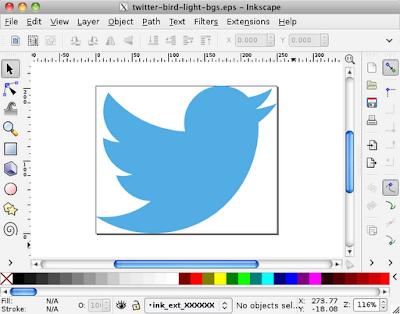 InkscapeでEPSを開いたところ