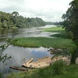 La Nyong et l'embarcadère. Ebogo (Cameroun), 20 avril 2013. Photo : C. Renoton