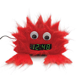 Clock creature made with felt & googley eyes - Kids' home decor ideas