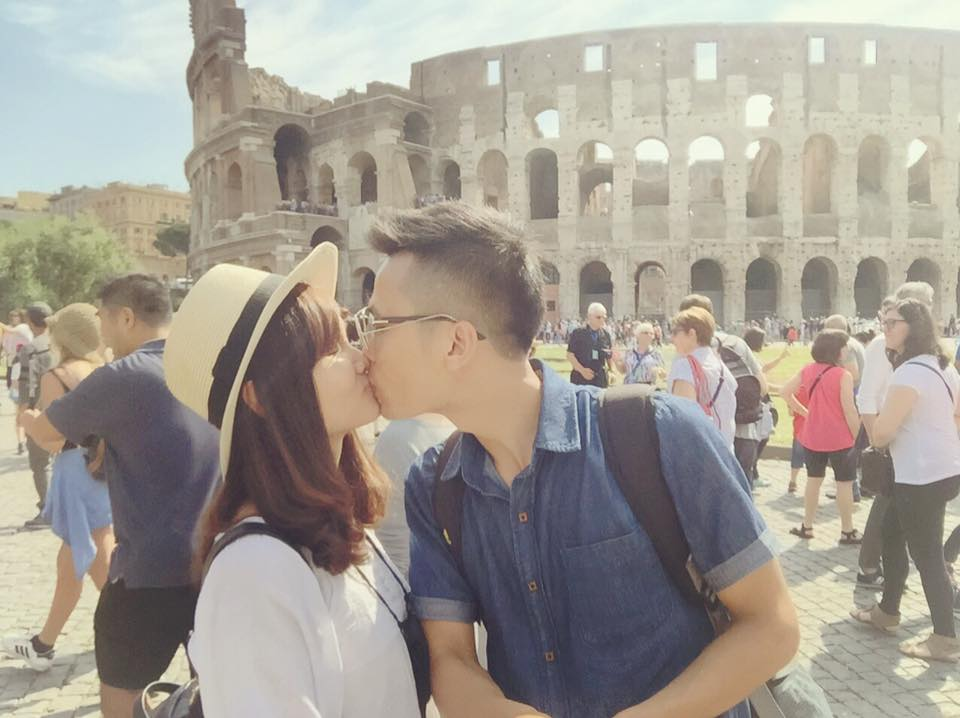 tieulamtrang - the kiss from Colosseum Rome Italy