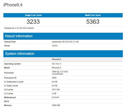 iPhone 7 3gb