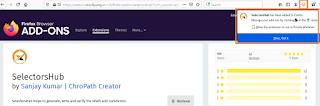 Install SelectorsHub In Firefox