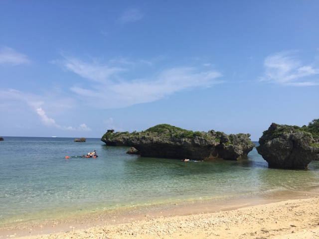 Maeda Beach on Okinawa Mainland is a great beach for snorkelling right off the beach in low or high tide. The water is clear and there's a great variety of fish!