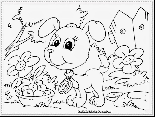 Outstanding Realistic Puppy Coloring Pages With Coloring Pages Of Puppies