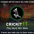 (Loot) Crickit11 - Refer & Earn Unlimited Paytm Cash & More