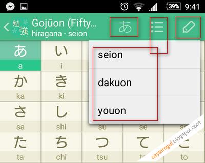 học cách viết và nghe đọc bảng chữ cái tiếng Nhật trên ứng dụng Android