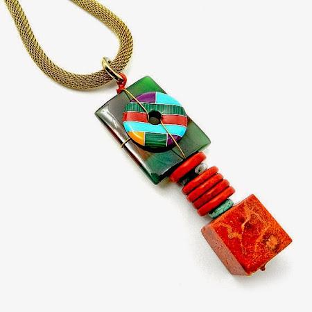 Chunky Gemstone Necklace by Osofree Jewellery