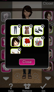 Click to Enlarge - Style Me Girl Level 6 - Boho - Rachel - Closet