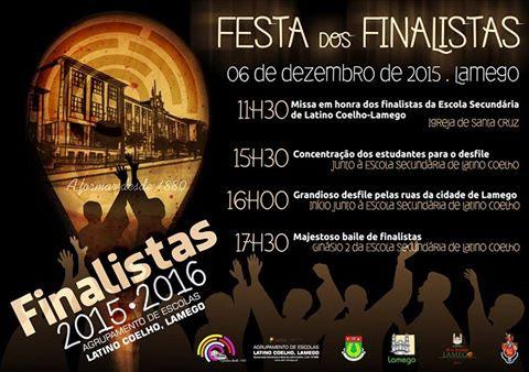 Programa - Festa dos Finalistas 2015/2016 - Lamego