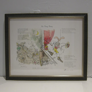 Ronald Searle X Robert Forbes Illustrated Poetry Lithograph - One Funny Bunny