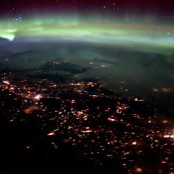 Active Earth Aurora | International Space Station Tim Peake: