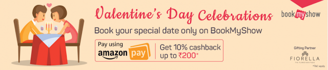 BookMyShow Amazon Offer - Get 10% Cashback Up to Rs 200 with Amazon Pay ln BookMyShow