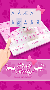 Pink Kitty Theme&Emoji Keyboard - náhled
